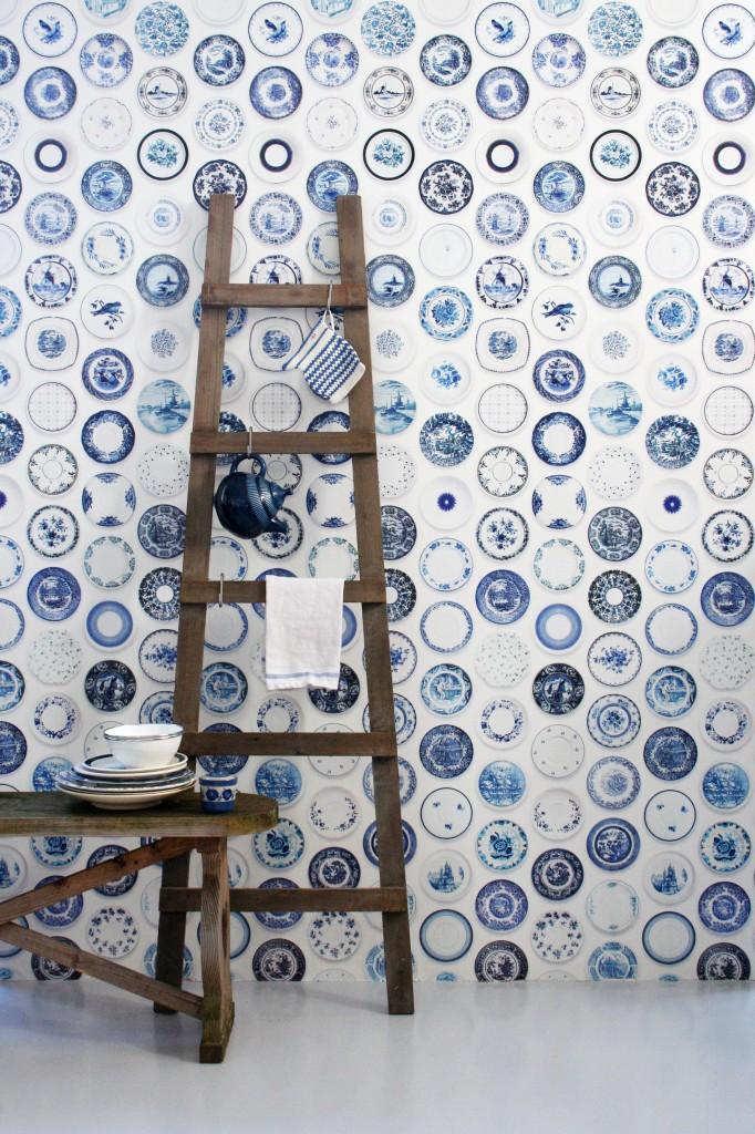 Porcelain wallpaper blue 02