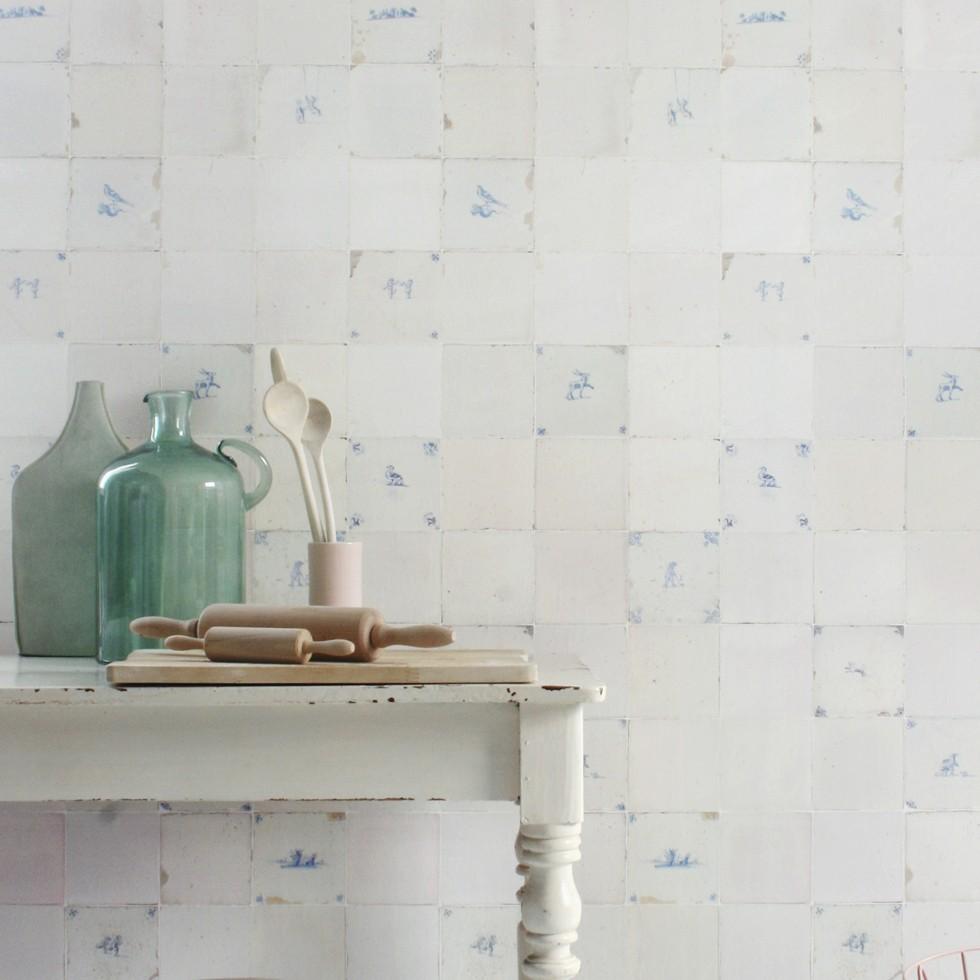 Papel de pared azulejos for Azulejos para paredes comedor