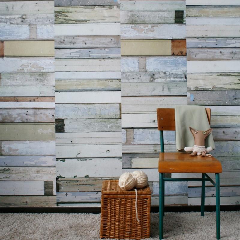 papel de pared madera blanca