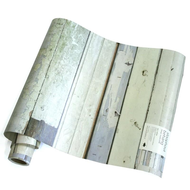 Papel de pared madera blanca for Papel pared madera