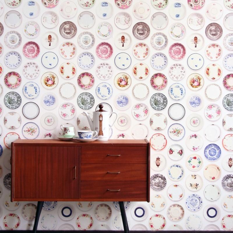 Papel de pared porcelana - Papel vintage pared ...