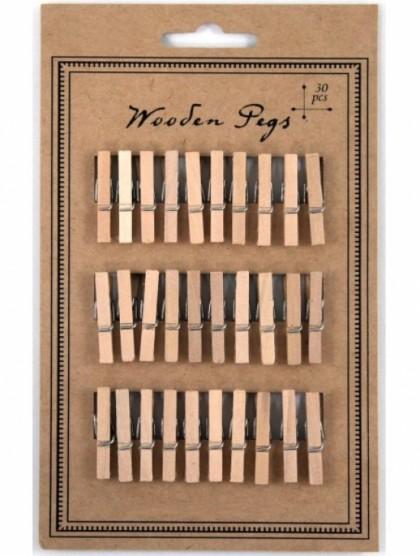 Mini pinzas madera