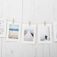 Set Colgador Fotos Blanco