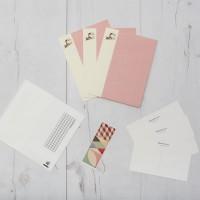 Tarjetas paspartús horizontal rosa