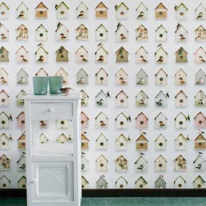 Papel de Pared Casitas de Pájaros