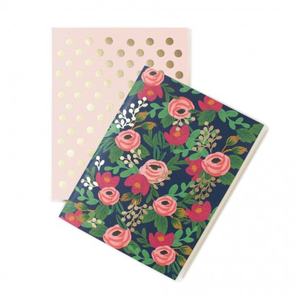 Set cuadernos rosa rifle paper-co